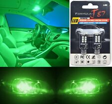 LED Light Canbus Error Free 921 Green Two Bulbs Back Up Reverse Replace Show JDM