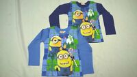 NEW Official Minions Despicable me Boys Long Sleeve Top  4 - 10 years Kids