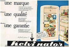 E- Publicité Advertising 1959 (2 pages) Le Refrigérateur Kelvinator