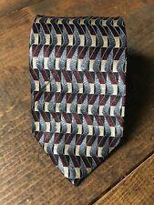 Van Heusen Boy's Necktie-Tie-Fashion Accessory-Blue Red Gold-Geometric-Silk