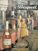 PUBLICITÉ DE PRESSE 1961 COGNAC BISQUIT FINE CHAMPAGNE à JARNAC - DISTILLERIE
