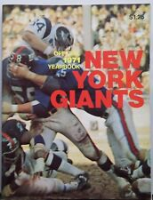 New York Giants 1971 Official NFL Football Vintage Yearbook Program Magazine