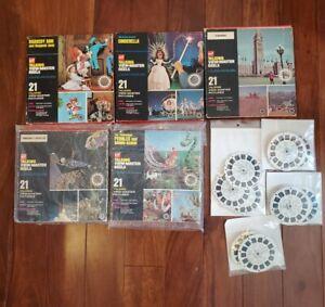 Lot of GAF Talking View-master Reels, boxes, Niagara Falls, Canada, Flintstones