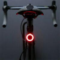 USB Rechargeable Bike Rear Tail Light LED Bicycle Warning Safety Smart Lamp JP