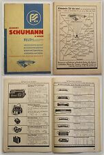Albert Schumann & Sohn Reuth Katalog Rundfunkgeräte & Zubehör um 1930 Radio xy