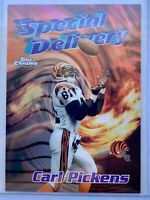 """1997 Topps Chrome Carl Pickens Special Delivery """"Seasons Best"""" Refractor & Base!"""