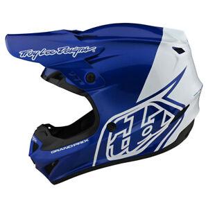 NEW Troy Lee Designs GP Block Blue White Adult XL MX Helmet TLD Motocross