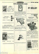1968 PAPER AD Toy Gun Rack Store Display Holster High Chaparral Daisy Fanner