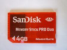4GB  MEMORY STICK PRO DUO  MEMORY CARD   FOR PSP & CYBERSHOT CAMERA