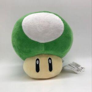"""New Super Mario Bros. Plush Green 1-UP Mushroom Soft Toy Doll Teddy 8.5"""" BIG"""