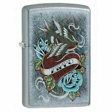 Zippo 29874 Vintage Tattoo Design Street Chrome Finish Lighter