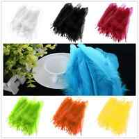 50PCS Beautiful Large Soft Goose Feathers 6-8 inches /15cm-21cm High Quality