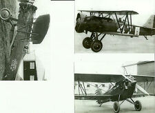 "LOT OF 3 WWII: #54 U.S. ARMY - NAVY BIPLANES AIRPLANES 4"" X 6"" B & W PHOTOGRAPHS"