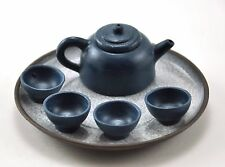 Vintage Blu Authentic Chinese YIXING Miniature Teapot cup SET Zisha Clay STAMPED