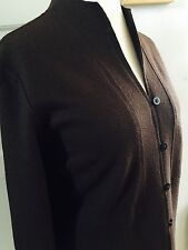 Nitya Boiled Wool Unlined Light Weight Jacket Size 48 Brown