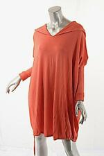 PASHMERE Coral Wool Blend Hooded Tunic Sweater w/Drawstring Hem NWT M $745