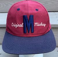 Mickey Mouse Vintage Hat Snapback Cap Red Disney Store Walt Disney 90s USA