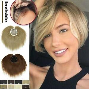 Unisex Topper Hairpiece As Human Hair Pieces Toupee Bangs Hair Extensions Soft