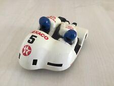 Scalextric C265 MOTO SIDECAR Bianco TEXACO #5 USATO NUOVI PNEUMATICI