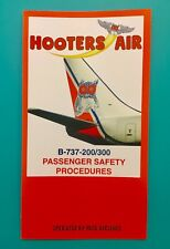 HOOTERS AIR SAFETY CARD--737-200/300