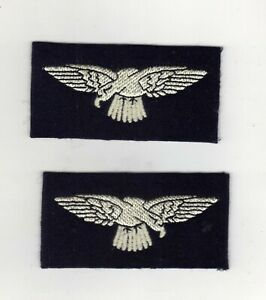 WORLD WAR 2 TYPE ROYAL AIR FORCE RAF EAGLE CLOTH SHOULDER BADGES/PATCHES PAIRS