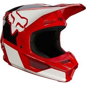 Fox V1 Revn Offroad Helmet Flame Red