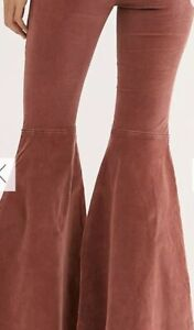 Rare Free People Know Me Better Cord Corduroy Extreme Float On Flare Pant 26 $98