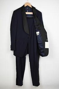 RRP $599 SUITSUPPLY WASHINGTON SHAWL TUXEDO Men UK40R Wool 2-Pieces Suit 16978