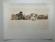 BORIS O'KLEIN SIGNED Print Of Cats And Dogs jeunesse