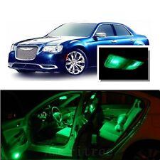 For Chrysler 300 2011-2017 Green LED Interior Kit + Green License Light LED