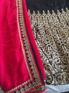 Bollywood Indian Pakistani Lehenga Choli Lenga Designer Semi Stitched
