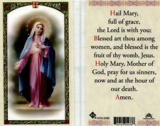 Hail Mary Full of Grace Prayer Holy Card The Lord Is With You Catholic Hc9-228e