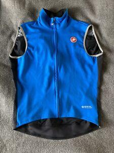Castelli Perfetto ROS Mens Cycling Gilet - Black Blue Size Xxl