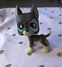 Littlest Pet Shop Great Dane #817 Blue Star Eyes Dog 2007 Authentic Lps