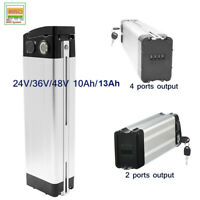 SilverFish 48V 36V 24V 10Ah 13Ah Lithium Battery 250W 500W Electric Scooter Bike