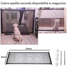 Cancelletto cane recinto casa protezione regolabile animale sicurezza rete box