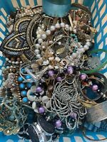 7+ LBS Jewelry Lot Vintage Bohemian Necklace Bracelet Brooch Rings More JLB18