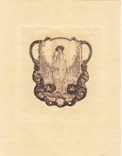 Exlibris Bookplate Heliogravüre Franz von Bayros 1866-1924 Frauenakt Spitz
