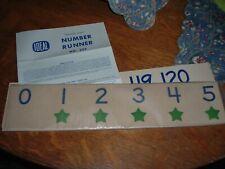 Vintage Ideal Number Runner No. 235 Classroom Aide 0-120 Primary School Nip