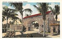 B43/ Coral Gables Florida Fl Postcard c1915 Granada Entrance 9