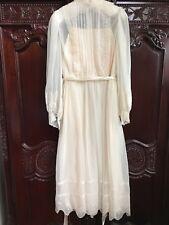 STUNNING Vintage 80s Lace and Chiffon Dress Wedding Victorian Style