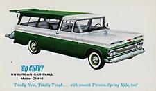 2eb8b24536a8 Old Print. Green White 1960 Chevrolet Suburban Caryall Auto Advertisement