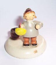 VEB KW Kind mit Korbe * Kerzenhalter * um 1950 Erzgebirge Weihnachten