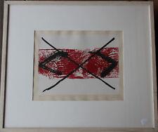 Antoni TAPIES Tapiès Gravure etching grabado eau-forte signée bande rouge 1984 *
