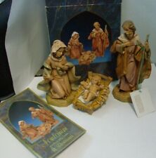 Fontanini 3 Pc Heirloom Nativity Holy Family Mary Joseph & Baby Jesus w Manger