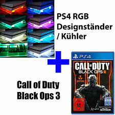 PS4 Playstation 4 paquet COD CALL OF DUTY BLACK OPS 3 + RGB Design ventilateur