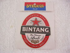 """BALI BINTANG "" BEER STICKER,DECAL, MEDIUM. SURFING MEMORABILLIA.SINGLET.TSHIRT."