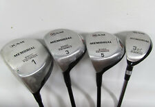 Used -4pc Lot- Ram Memorial Golf Clubs Set LH 1,3,5 Wood and 3 Iron w/ Socks