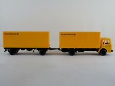 "Wiking 551 MAN 12.170 Koffer-Lastzug (1972) ""Deutsche Post AG"" 1:87/H0 NEU"