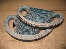 "30- 1/2 x 18"" Silicon Carbide sanding belts 180 Grit Dynafile style made in USA"
